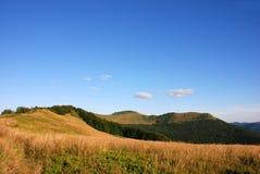 Bieszczady berg, Polonina Wetlinska fotografering för bildbyråer