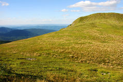 Bieszczady berg, Polonina Wetlinska Arkivfoto