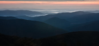 Bieszczady - montagne polacche Immagine Stock Libera da Diritti