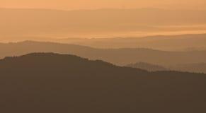 Bieszczady - montagne polacche Fotografia Stock
