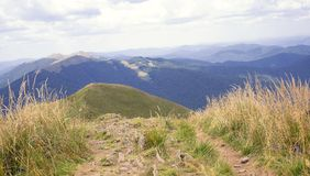 Bieszczady mountain landscape Royalty Free Stock Photo