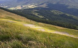 Bieszczady mountain landscape Royalty Free Stock Images