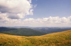 Bieszczady mountain landscape Stock Images