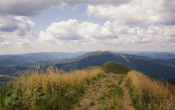 Bieszczady mountain landscape Royalty Free Stock Photography