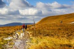 Bieszczady mountain in Poland. Walking trail in Bieszczady mountain in Poland Royalty Free Stock Image