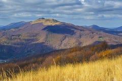 Bieszczady mountain in Poland. Walking trail in Bieszczady mountain in Poland Royalty Free Stock Photo