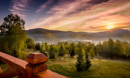 Bieszczady mountains landscape, Poland Royalty Free Stock Image
