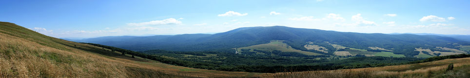 Bieszczady Mountains Panorama. Mountain panorama in Bieszczady in Poland Royalty Free Stock Images