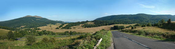 Bieszczady Mountains Panorama. Mountain panorama in Bieszczady in Poland stock image