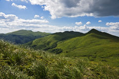Bieszczady mountains panoramic Stock Images