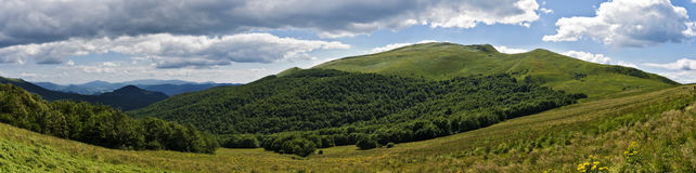 Bieszczady mountains panoramic Stock Photo