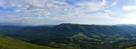 Bieszczady mountains panoramic Stock Photos