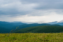 Bieszczady Mountains. In Poland, August 2016 royalty free stock photo