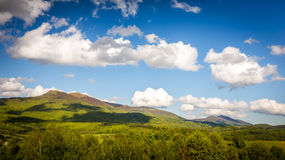 Bieszczady Mountains, Poland. Landscape of Poloniny range in Bieszczady Mountains, Poland Stock Image