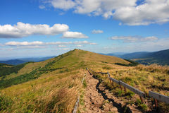 Bieszczady Mountains, Polonina Wetlinska. Wetlinski Poloniny vast spaces in the Bieszczady (Poland Stock Photo
