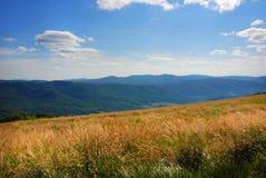 Bieszczady Mountains, Polonina Wetlinska. Wetlinski Poloniny vast spaces in the Bieszczady (Poland Royalty Free Stock Photo