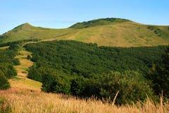 Bieszczady Mountains, Polonina Wetlinska. Wetlinski Poloniny vast spaces in the Bieszczady (Poland Royalty Free Stock Image