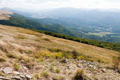 Bieszczady mountains in south east Poland Stock Image