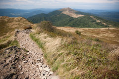 Bieszczady mountains in south east Poland Royalty Free Stock Images