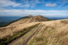 Bieszczady mountains in south east Poland Stock Photos