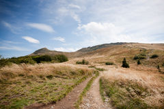 Bieszczady mountains in south east Poland Royalty Free Stock Photos