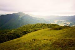 Bieszczady mountains. In south-east Poland, Polonina Wetlinska, Polonina Carynska stock image