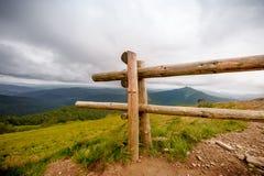 Bieszczady mountains. In south-east Poland, Polonina Wetlinska, Polonina Carynska Stock Photography