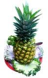 Bieten - Ananas getrennt Lizenzfreie Stockfotografie