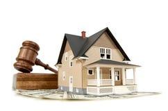 Bieten auf einem Haus Lizenzfreies Stockbild
