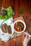 Bietensoep, borscht Stock Foto