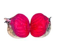 Bietole rosse su fondo bianco. Fotografia Stock