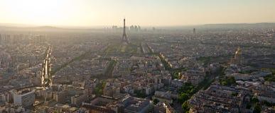 Biew da torre Eiffel da torre de Montparnasse Fotos de Stock Royalty Free