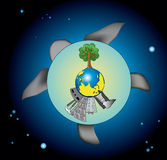 bifacial vårt planetuniversum Royaltyfria Foton