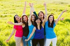 Bifallkvinnor Fotografering för Bildbyråer
