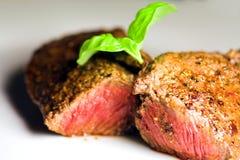 Bife agradável e suculento Foto de Stock