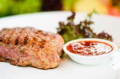 Bife & vegetais Imagem de Stock