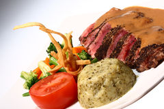 Bife & vegetais Foto de Stock Royalty Free