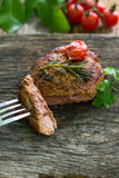 Bife, carne, jantar, almoço Fotografia de Stock