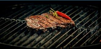 Bife com pimenta Foto de Stock Royalty Free