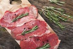 Bife cru da carne de porco Fotografia de Stock