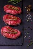 Bife da carne cru Imagens de Stock Royalty Free