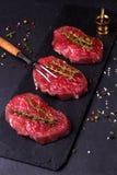 Bife da carne cru Fotografia de Stock Royalty Free