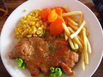 Bife da carne de porco Fotos de Stock
