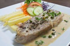 Bife da carne de porco Imagem de Stock