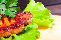 Bife da carne de porco com arroz fritado Fotos de Stock