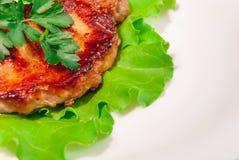 Bife da carne de porco com arroz fritado Imagem de Stock