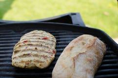 Bife da galinha na grade Foto de Stock Royalty Free