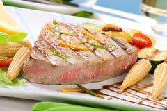 Bife de atum grelhado Foto de Stock Royalty Free