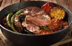 Bife de carne Fotografia de Stock