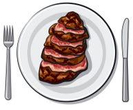 Bife de carne cozinhado Foto de Stock